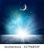 stars background  with wooden... | Shutterstock . vector #417968539