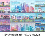 Big City Infographic Set With...