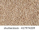 heap of pearl barley grains ... | Shutterstock . vector #417974209