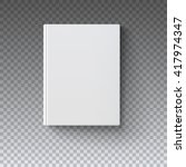 blank book cover  vector... | Shutterstock .eps vector #417974347
