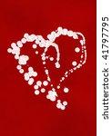 artistic heart made of white... | Shutterstock . vector #41797795