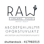 sanserif font with hand drawn... | Shutterstock .eps vector #417983515