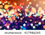 lights on background. | Shutterstock . vector #417986245