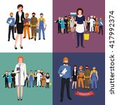 people different profession.... | Shutterstock .eps vector #417992374