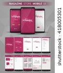 magazine store material design...