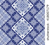 gorgeous seamless patchwork... | Shutterstock .eps vector #418007179