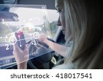 car interface against young... | Shutterstock . vector #418017541