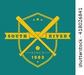 baseball vintage emblem  logo ... | Shutterstock .eps vector #418026841