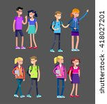 vector detailed character flat... | Shutterstock .eps vector #418027201