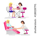 detailed manicurist character... | Shutterstock .eps vector #418028791