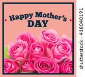 mothers day greeting against... | Shutterstock . vector #418040191
