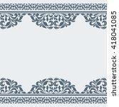 vintage greeting card. | Shutterstock .eps vector #418041085