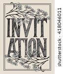 unique invitation card with... | Shutterstock .eps vector #418046011