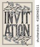 unique invitation card with...   Shutterstock .eps vector #418046011