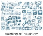 big hand drawn retro technology ... | Shutterstock .eps vector #41804899