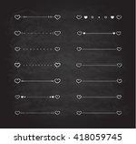 heart dividers scribble borders ... | Shutterstock . vector #418059745