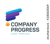 progress logo template | Shutterstock .eps vector #418060069