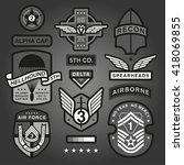 set of military and army... | Shutterstock .eps vector #418069855