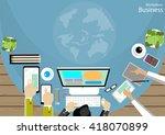 vector workplace business... | Shutterstock .eps vector #418070899