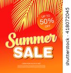 summer sale template banner | Shutterstock .eps vector #418072045
