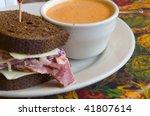 Sandwich On Rye Bread With A...