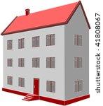 vector. 3d home 06 | Shutterstock .eps vector #41808067