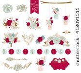 wedding graphic set with... | Shutterstock .eps vector #418091515