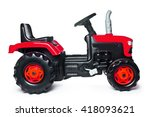 Toy Tractor On A White...