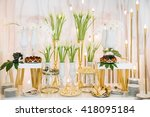 luxury wedding banquet | Shutterstock . vector #418095184