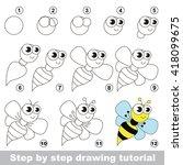 drawing tutorial for children.... | Shutterstock .eps vector #418099675