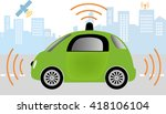intelligent controlled car ... | Shutterstock .eps vector #418106104