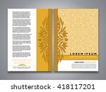 asian style brochure and flyer... | Shutterstock .eps vector #418117201