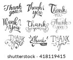 thank you message sets set of... | Shutterstock .eps vector #418119415