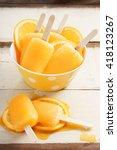 orange ice pops fresh summer... | Shutterstock . vector #418123267