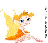 little orange fairy ballerina... | Shutterstock .eps vector #41812501