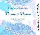 wedding card collection.... | Shutterstock .eps vector #418128364