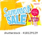 summer sale template banner | Shutterstock .eps vector #418129129