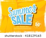 summer sale template banner | Shutterstock .eps vector #418129165