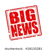 big news red stamp text on white | Shutterstock .eps vector #418133281
