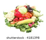 group of vegetables isolated on ... | Shutterstock . vector #4181398