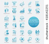 academic disciplines isolated... | Shutterstock .eps vector #418142251