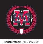ms monogram | Shutterstock .eps vector #418149619