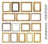 gold frame elegant vintage... | Shutterstock . vector #418151335