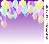 birthday vector card with... | Shutterstock .eps vector #418151785
