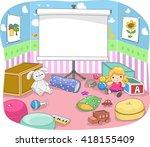illustration of a nursery room... | Shutterstock .eps vector #418155409