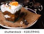 Orange Dessert  With Cream In...