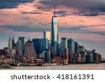 lower manhattan and one world... | Shutterstock . vector #418161391