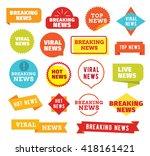 breaking news  hot news  live... | Shutterstock .eps vector #418161421