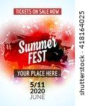 summer festival flyer design...   Shutterstock .eps vector #418164025