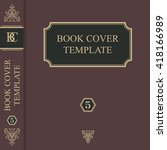 book cover template | Shutterstock .eps vector #418166989